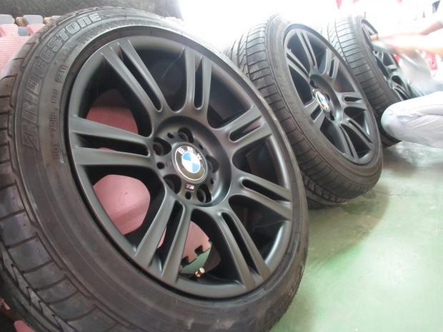 ホイール塗装(マットブラック)BMW3シリーズ (3).JPG
