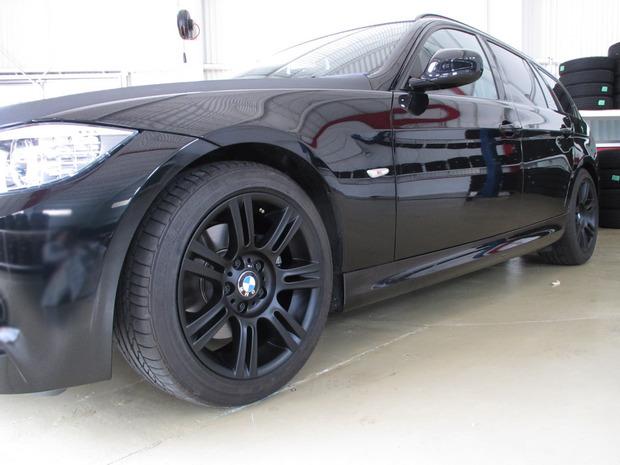 ホイール塗装(マットブラック)BMW3シリーズ (4).JPG